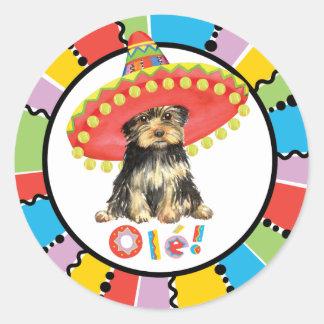 Fiesta Yorkie Round Sticker