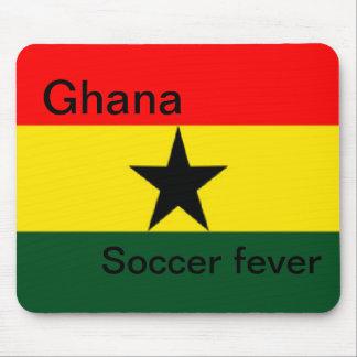 Fièvre du football de drapeau du Ghana Tapis De Souris