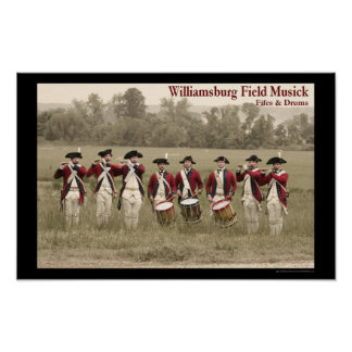 Fife & Drum at Berkeley Plantation Poster