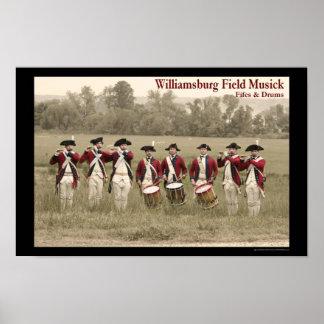 Fife & Drum at Berkeley Plantation Poster