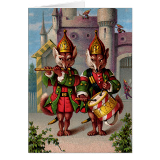 Fife & Drum Foxes Greeting Card