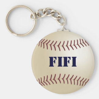 Fifi Baseball Keychain by 369MyName