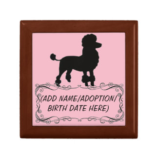 FIFI POODLE PERSONALIZED PET KEEPSAKE BOX