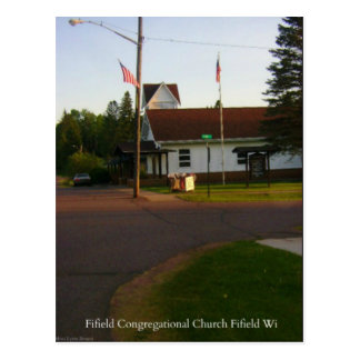 Fifield Congregational Church Fifield WI Postcard