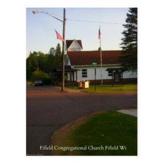 Fifield WI Congregational Church Postcard