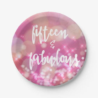 Fifteen & Fabulous - 15th Birthday Paper Plates