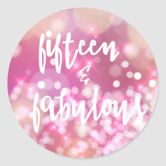 Fifteen & Fabulous - Glam Quinceanera Stickers