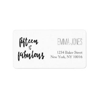 Fifteen & Fabulous - Quinceanera Address Labels