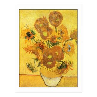 Fifteen Sunflowers by Van Gogh Postcard