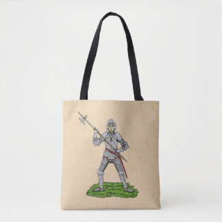 Fifteenth Century English Knight Tote Bag
