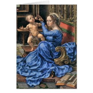 Fifteenth Century Flemish Madonna and Child Card