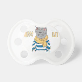 Fifteenth February - Hippo Day - Appreciation Day Baby Pacifiers