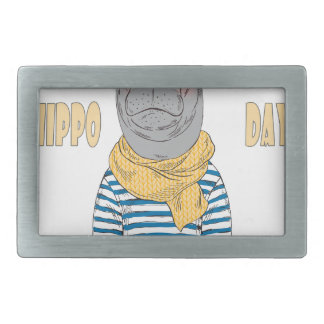 Fifteenth February - Hippo Day - Appreciation Day Belt Buckle