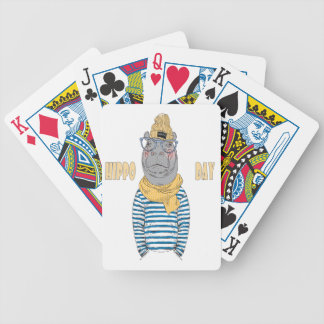 Fifteenth February - Hippo Day - Appreciation Day Bicycle Playing Cards