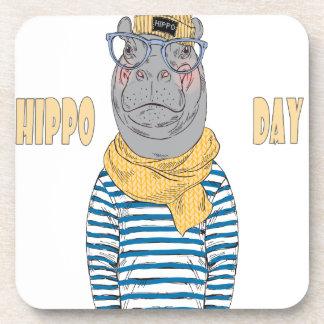 Fifteenth February - Hippo Day - Appreciation Day Coaster