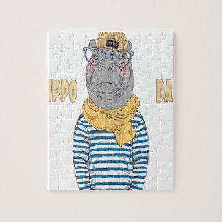 Fifteenth February - Hippo Day - Appreciation Day Jigsaw Puzzle