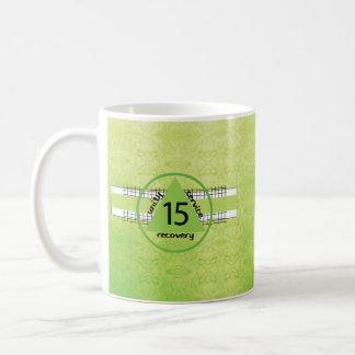 Fifteenth Year 12 Step Recovery Anniversary Symbol Coffee Mug