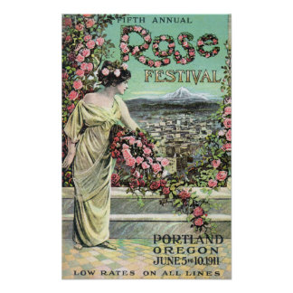Fifth Annual Rose Festival Advertisement Poster