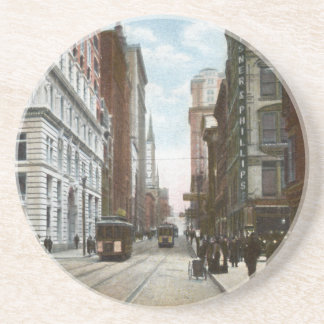 Fifth Ave and Wood Street Vintage Coaster