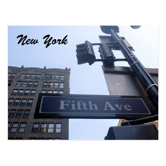 fifth ave postcard