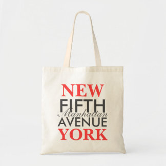 Fifth Avenue New York Budget Tote Bag