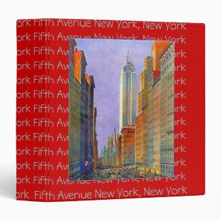 Fifth Avenue New York great postcard album Binders