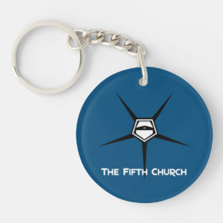 Fifth church keyholder [SCP Foundation] Double-Sided Round Acrylic Keychain