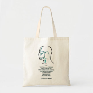 Fifth Cranial Nerve Distribution and quote Tote Bag