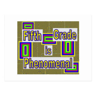 Fifth grade...phenomenal with white behind letters postcard