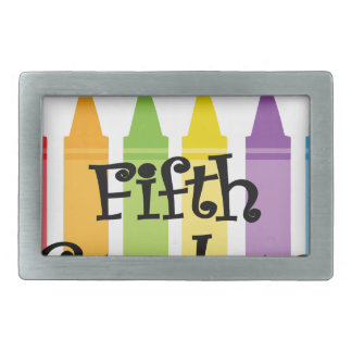 Fifth grade teacher2 rectangular belt buckle