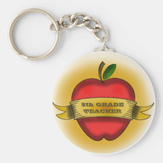fifth grade Teacher Keychain