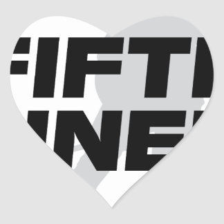Fifth Liner Heart Sticker