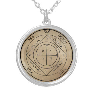 Fifth Pentacle of Saturn Silver Plated Necklace