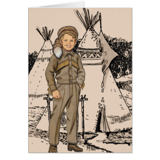 Fifties Daniel Boone Card