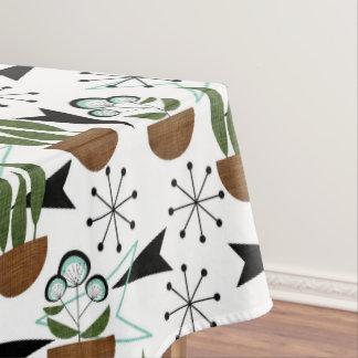 Fifties Houseplants Atomic Style on White | Atomic Tablecloth