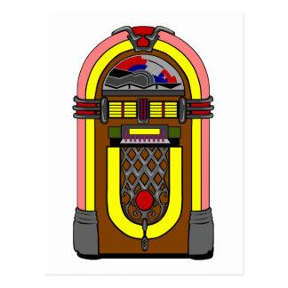Fifties Jukebox Postcard