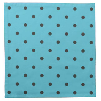 Fifties Style Aqua Polka Dot Cloth Napkin