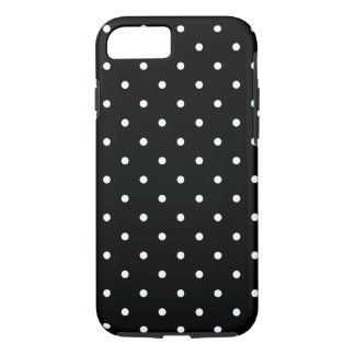 Fifties Style Black and White Polka Dot iPhone 7 Case
