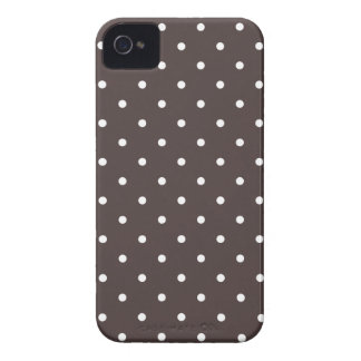 Fifties Style Brown Polka Dot iPhone 4S Case