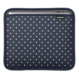 Fifties Style Dark Blue Polka Dot iPad 3 Sleeve