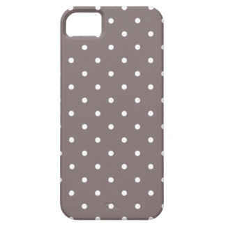Fifties Style Driftwood Polka Dot iPhone 5 Case