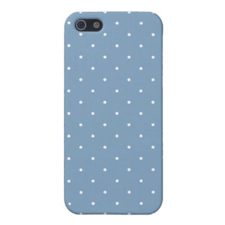 Fifties Style Dusk Blue Polka Dot Case For The iPhone 5