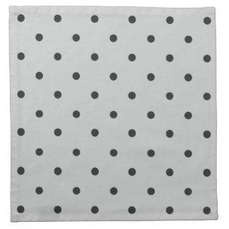 Fifties Style Gray Polka Dot Cloth Napkin