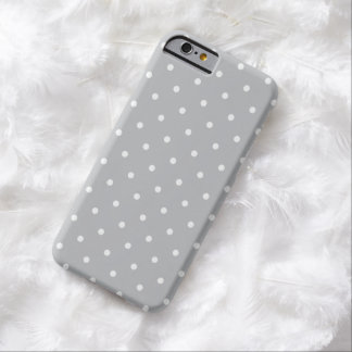 Fifties Style Gray Polka Dot iPhone 6 case Barely There iPhone 6 Case