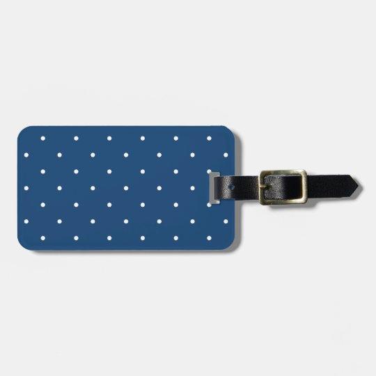 Fifties Style Monaco Blue Polka Dot Bag Tag
