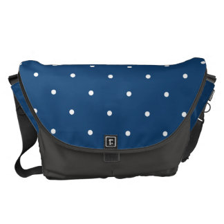 Fifties Style Monaco Blue Polka Dot Commuter Bag