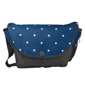 Fifties Style Monaco Blue Polka Dot Commuter Bag
