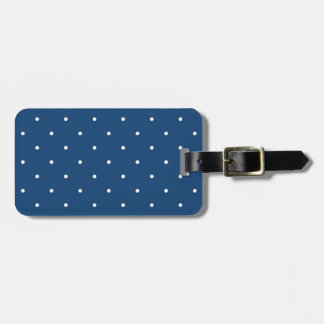 Fifties Style Monaco Blue Polka Dot Luggage Tag