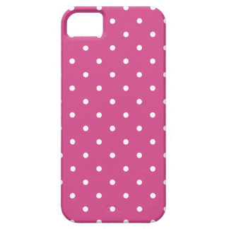 Fifties Style Pink Flambe Polka Dot iPhone 5 5S Ca iPhone 5/5S Cover