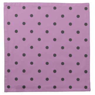 Fifties Style Purple Polka Dot Cloth Napkins